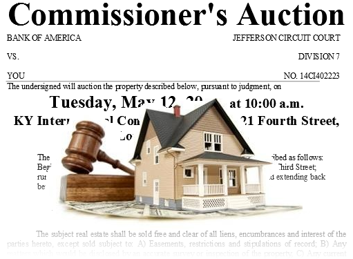 Notice of Foreclosure Auction Posted on Door what can you do